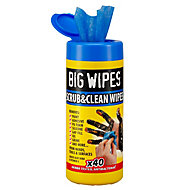 Big Wipes Scrub & clean Unscented Wipes, Pack of 40
