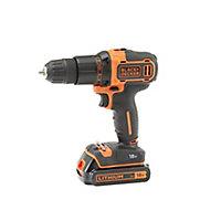 Black & Decker 18V 2Ah Li-ion Cordless Combi drill 1 battery KFBCD701D1K