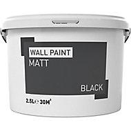 Black Matt Emulsion paint, 2.5L
