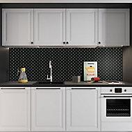 Black Mini bevel brick Porcelain Mosaic tile, (L)320mm (W)298mm