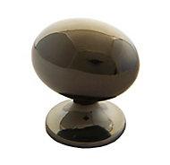 Black Nickel effect Zinc alloy Oval Cabinet Knob (Dia)24.5mm
