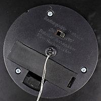 Black Solar-powered LED Outdoor Lantern