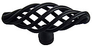 Black Steel Cage Furniture Knob, Pack of 6