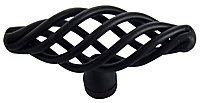 Black Steel Cage Furniture Knob, Pack of 6