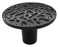 Black Zinc alloy Round Furniture Knob