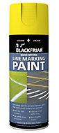 Blackfriar Yellow Matt Multi-surface Line-marking Spray paint, 400ml