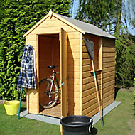 Blooma 6x4 Apex Dip treated Shiplap Honey brown Wooden Shed