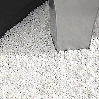 Blooma Alpine White Decorative stones, Large 5kg Bag