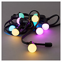 Blooma Barnaby Mains-powered Multicolour 10 LED Outdoor String lights