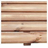 Blooma Brantas Brown Pine Deck tile (L)0.5m (W)500mm (T)40mm