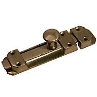 Blooma Brass effect Metal Flat Door bolt (L)102mm (W)26.5mm