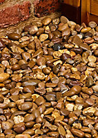 Blooma Brown 40mm Stone Rounded pebble, 790kg Bag
