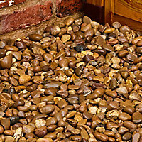 Blooma Brown Stone Rounded pebble, 22.5kg Bag