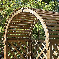 Blooma Chiltern Round top Softwood Arbour