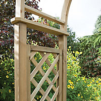 Blooma Chiltern Round top Softwood Arch - Assembly service included
