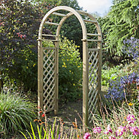 Blooma Chiltern Round Top Softwood Arch