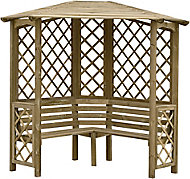 Blooma Chiltern Softwood Corner arbour - Assembly service included