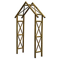Blooma Cottage Apex top Softwood Arch - Assembly service included