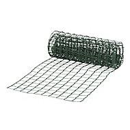 Blooma Dark green PVC-coated High-density polyethylene (HDPE) Mesh fencing, (L)5m (W)0.5m (750g)