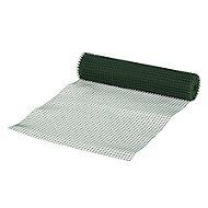 Blooma Dark green PVC-coated High-density polyethylene (HDPE) Wire mesh fencing, (L)5m (W)0.5m (750g)