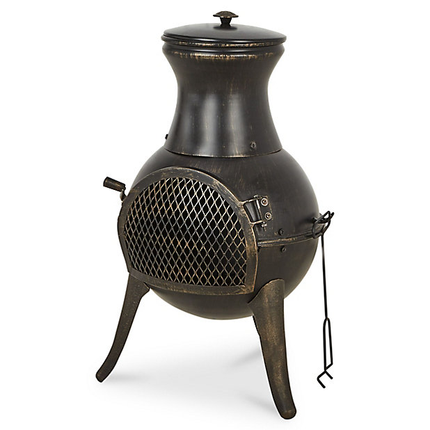 Blooma Diogo Steel Chiminea Diy At B Q