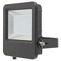 Blooma Duncan Matt Black Mains-powered LED Outdoor Flood light 10000lm