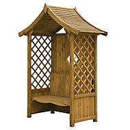 Blooma Elegant Softwood Arbour - Assembly service included