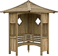 Blooma Elegant Softwood Corner arbour - Assembly service included