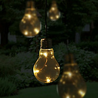 Blooma Fernie Battery-powered Warm white 10 LED Outdoor String lights