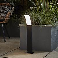 Blooma Gambell Matt Charcoal grey Mains-powered LED Post light (H)600mm