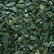 Blooma Green 20mm Slate Decorative chippings, Large 22.5kg Bag
