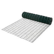 Blooma Green PVC-coated Steel Wire mesh fencing, (L)20m (W)1.2m