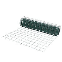 Blooma Green PVC-coated Steel Wire mesh fencing, (L)20m (W)1m (7600g)