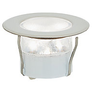Blooma Hardin Brushed Silver effect Mains-powered Neutral white LED Round Decking light, Pack of 6
