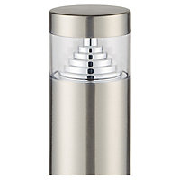 Blooma Kelowna Brushed Silver effect Mains-powered LED Post light (H)500mm