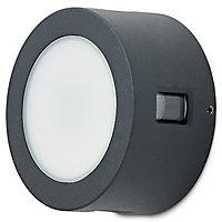 Blooma Kobuk Matt Charcoal grey Mains-powered LED Outdoor Wall light 300lm