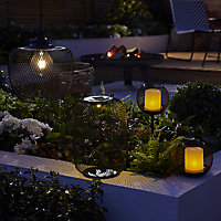 Blooma Koyaka Black Solar-powered Integrated LED Outdoor Lantern