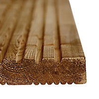Blooma Madeira Brown Softwood Deck board (L)2.4m (W)120mm (T)24mm, Pack of 5
