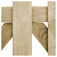 Blooma Mekong Timber Round top Gate, (H)1m (W)1m