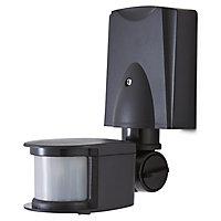 Blooma Merritt Black Mains-powered Wall lighting PIR Motion sensor