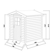 Blooma Mokau 5x5 Apex Tongue & groove Wooden Shed