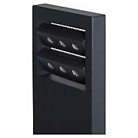 Blooma Noatak Matt Charcoal grey Mains-powered LED Post light