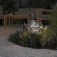 Blooma Penia Glitter effect LED Outdoor Ball light (D)200mm