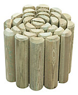 Blooma Pine Edging roll, (H)250mm (L)2m