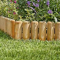 Blooma Pine Vertical log edging, (H)150mm (L)1m