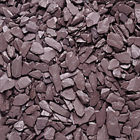 Blooma Plum 10-30mm Slate Decorative chippings, Large 22.5kg Bag