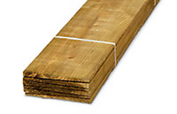 Blooma Pressure treated Timber Feather edge board (L)2.4m (W)150mm (T)11mm, Pack of 6
