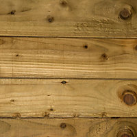 Blooma Pressure treated Timber Feather edge Fence board (L)2.4m (W)150mm (T)11mm, Pack of 6