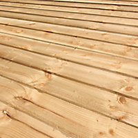 Blooma Pressure treated Timber Fence board (L)2.4m (W)100mm (T)11mm, Pack of 10