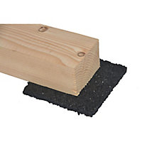Blooma Rubber Deck joist pad (L)0.09m (W)90mm (T)8mm, Pack of 24